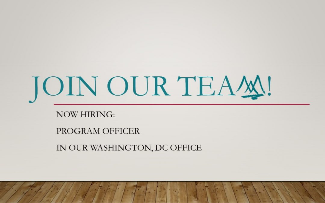 Now Hiring – Associate Director of Programs, Washington Office