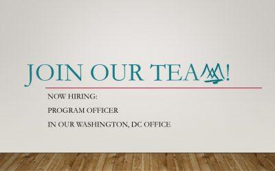 Now Hiring – Associate Director of Programs, Washington Office