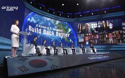 Mansfield Leaders Participate in Televised U.S.-Korea Dialogue